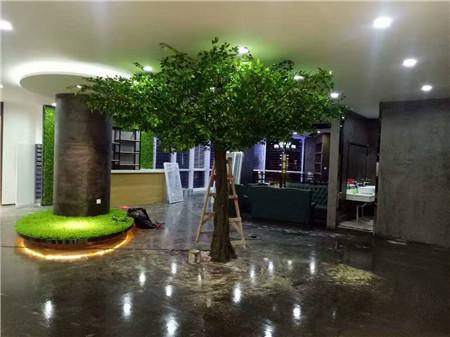 台北市仿真椰子树-围墙绿化设计及施工