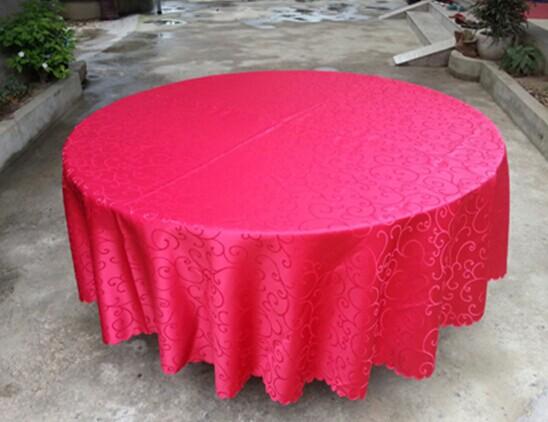 宴会桌桌布红色缎布