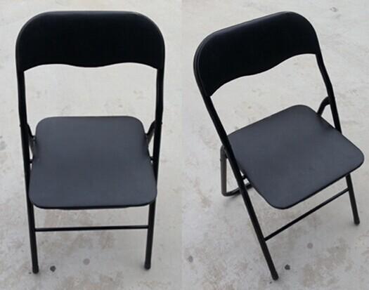 活动物料折叠椅黑