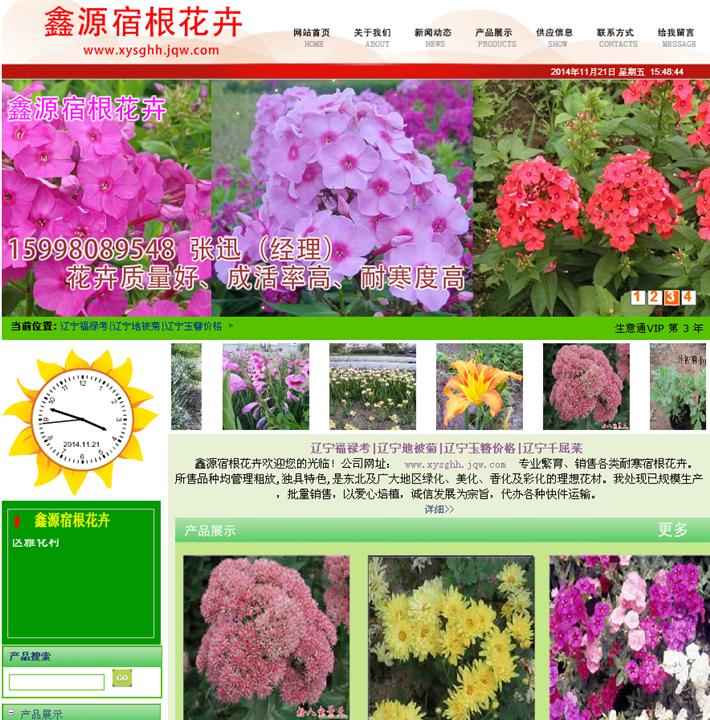 辽宁省台安县宿根花卉案例