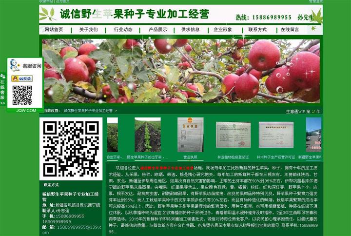 诚信野生苹果种子专业加工经营