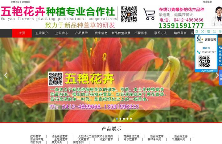 辽宁鞍山市台安县五艳花卉种植专业合作