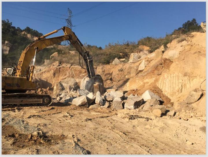 汕头市雷打石环保电厂项目(岩石静态爆破)