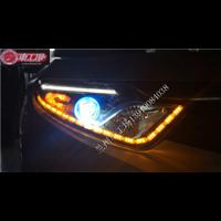 【兰州车工场】东南DX7升级海拉五透镜泪眼天使眼